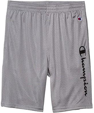 Champion Kids Vertical Script Mesh Shorts (Big Kids) (Concrete) Boy's Shorts