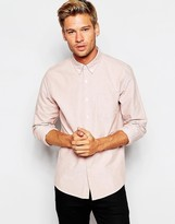 Asos Oxford Shirt In Rust With Long Sleeves - Brown