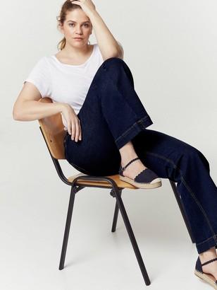 Evans Wide Leg Jeans - Indigo