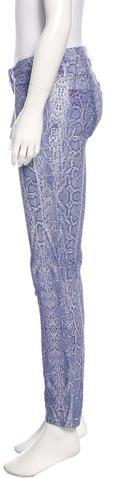Roberto Cavalli Mid-Rise Printed Jeans