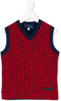 Simonetta patterned V-neck vest