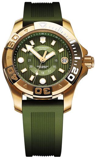Swiss Army Victorinox 'Dive Master' Round Rubber Strap Watch, 38mm