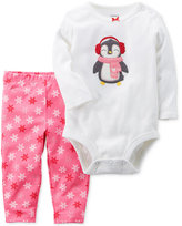 Carter's 2-Pc. Cotton Penguin Bodysuit and Pants Set, Baby Girls (0-24 months)