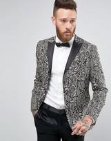 Asos Slim Blazer with Black Textured Jaquard Design
