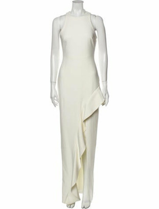 Cinq à Sept Crew Neck Long Dress White