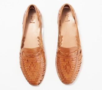 Frye Leather Slip-On Sandals - Heather Huarache