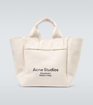 Acne Studios Alisse logo canvas tote bag