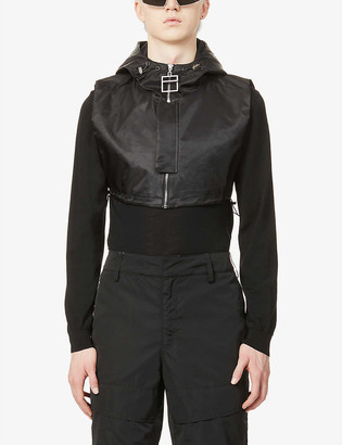 Pieces Uniques Bushi Corbero Cle cropped shell hooded vest