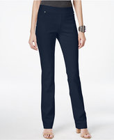 INC International Concepts Curvy Pull-On Straight-Leg Pants, Only at Macy's