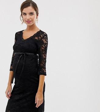 Mama Licious Mama.Licious Mamalicious lace midi dress-Navy