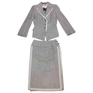 Gianfranco Ferre Grey Silk Jackets