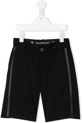 Givenchy Kids side-stripe tailored shorts