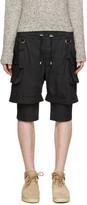 Balmain Black Layered Cargo Shorts