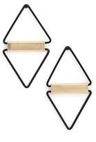 Cara Open Triangle Earrings