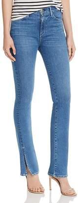 3x1 High-Rise Slit-Hem Flared Jeans in Jaco