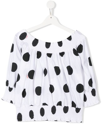MSGM Kids TEEN polka dot print blouse
