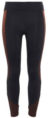 Koral Curved Mid Rise Glow Metallic-trimmed Stretch-jersey Leggings
