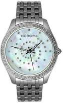 BCBGirls Women's GL4017 Crystal Accented Silver Streak Collection Watch