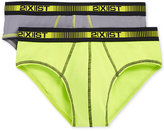 2xist Men's 2 Pack Performance Micro No-Show Briefs