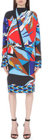 Emilio Pucci Geometric-print stretch-crepe dress