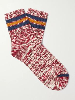 Thunders Love Athletic Striped Melange Cotton-Blend Socks