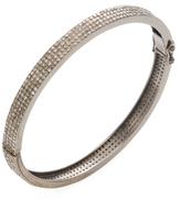 Silver & 10.00 Total Ct. Brown Diamond Bangle Bracelet