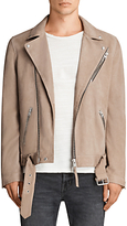 Allsaints Allsaints Kolton Leather Biker Jacket, Mushroom