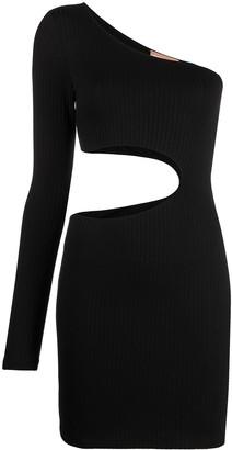 Fantabody One-Shoulder Cut-Out Dress