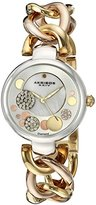 Akribos XXIV Women's AK678TRI Quartz Movement Watch with Tri Colored Dial featuring Mother of Dial Center and a Two Tone Bracelet