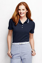 Classic Women's Tall Pique Polo Shirt-Black Stripe