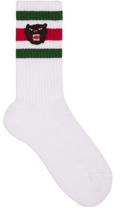 Gucci Children's stretch cotton socks with panther