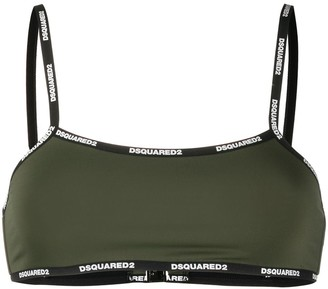 DSQUARED2 Small Logo Print Bra