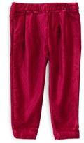 Tea Collection Velvet Pants (Baby Girls)