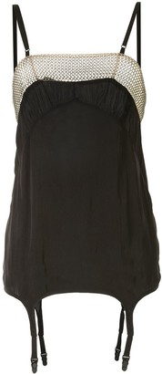 Vera Wang Chain-Link Trim Short Dress