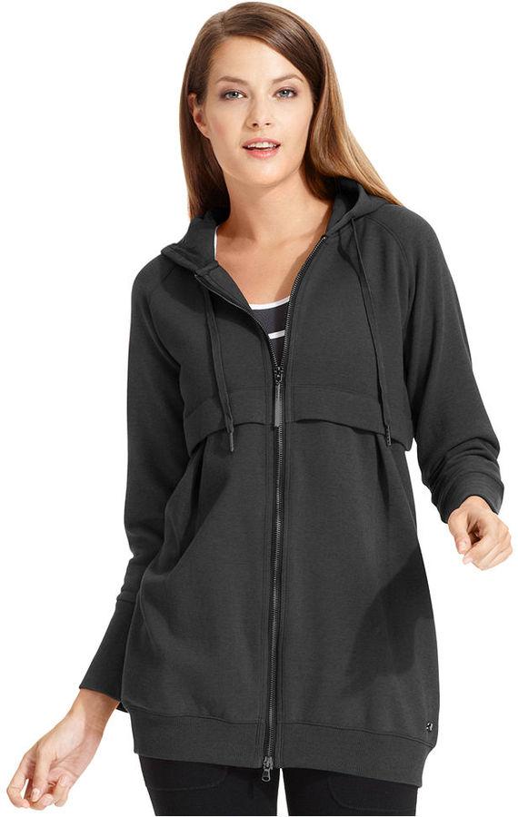 Calvin Klein Tops, Long-Sleeve Zip-Up Hoodie
