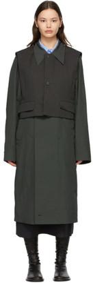 Ader Error Grey Layered Coat