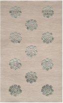 Safavieh MSR5634B Martha Stewart Collection Medallions Wool and Silk Area Rug, 3-Feet 9-Inch by 5-Feet 9-Inch, Aqua