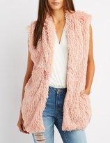 Charlotte Russe Shaggy Faux Fur Open-Front Vest
