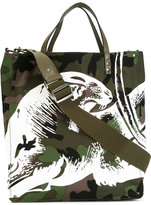 Valentino Garavani Valentino Camupanther tote - men - Leather/Polyester - One Size