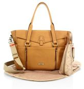 Storksak Emma Leather Diaper Bag