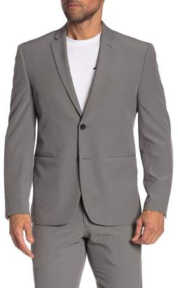 Perry Ellis Grey Solid Two Button Notch Lapel Very Slim Fit Performance Tech Suit Separates Jacket