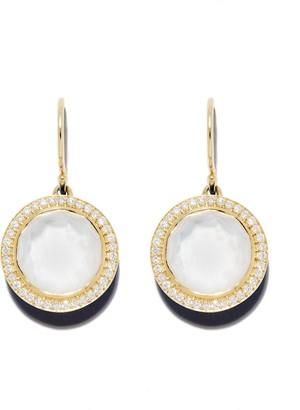 Ippolita 18kt yellow gold Lollipop Carnevale diamond drop earrings