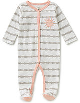 Jessica Simpson Baby Girls Newborn-9 Months Striped Footed Coverall