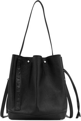 MCM Medium Milano Goatskin Leather Bucket Bag