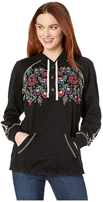 Double D Ranchwear Hidalgo Hoodie (Black) Women's Clothing