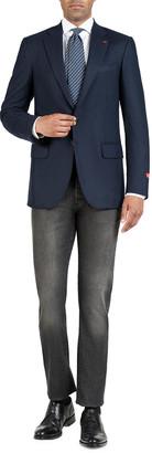 Isaia Men's Tonal Houndstooth Super 200's Wool Sport Jacket