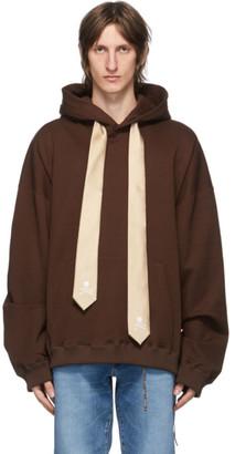 Mastermind Japan Brown Boxy Necktie Hoodie