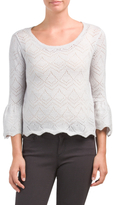 Juniors Pointelle Sweater