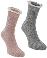 Soul Cal SoulCal 2 Pack Ladies Boot Socks