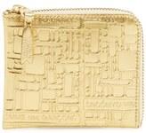 Comme des Garcons Men's Embossed French Wallet - Metallic